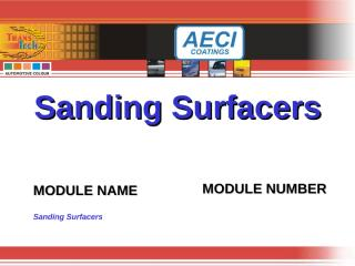 Sanding Surfacers.ppt