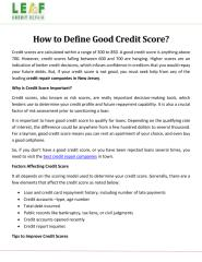 How to Define Good Credit Score.pdf