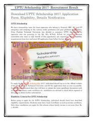 Download UPTU Scholarship 2017 Application Form, Eligibility, Details Notification.pdf