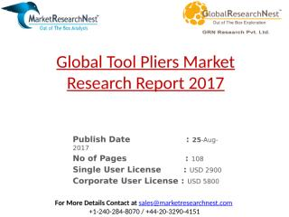 Global Tool Pliers Market Research Report 2017.pptx
