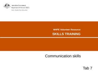 TAB07 - Communication skills.PPT
