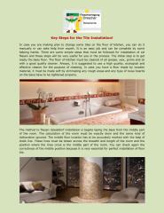 Key Steps for the Tile Installation.pdf