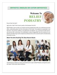 Orthotic insoles Or Cutom orthotics.pdf