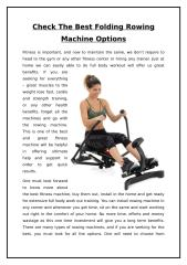 Check The Best Folding Rowing Machine Options.doc