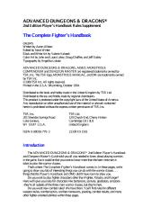 AD&D  2nd Edition - The Complete Fighter's Handbook - PHBR1 (TSR2110).pdf