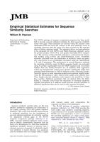 Pearson_1998_Empirical statistical estimates for sequence similarity searches.pdf