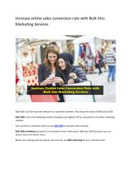 Increase online sales conversion rate with Bulk Sms Marketing Services.pdf