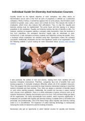 Individual Guide On Diversity And Inclusion Courses.docx